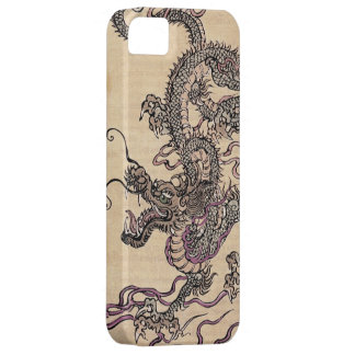 Vintage Japanese Dragon Fantasy Art iPhone Case iPhone 5 Case