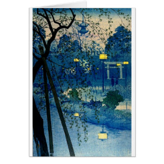 Vintage Japanese Evening in Blue Card