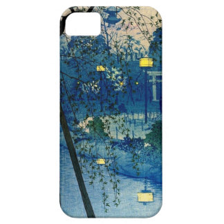 Vintage Japanese Evening in Blue iPhone 5 Cover