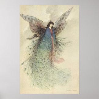 Vintage Japanese Fairy, Moon Maiden, Warwick Goble Print