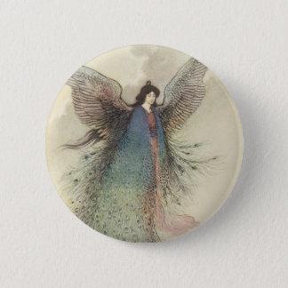 Vintage Japanese Fairy Tale, The Moon Maiden 6 Cm Round Badge