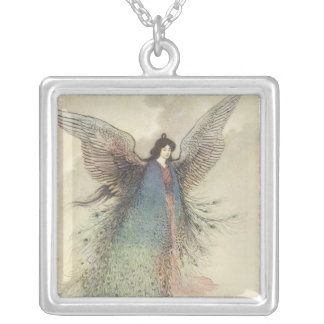 Vintage Japanese Fairy Tale, The Moon Maiden Silver Plated Necklace