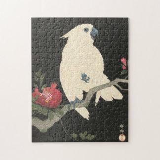 Vintage Japanese Fine Art Cockatoo Jigsaw Puzzle