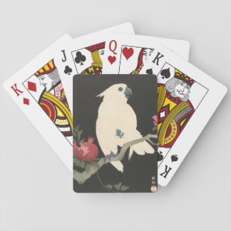 Vintage Japanese Fine Art | Cockatoo Playing Cards