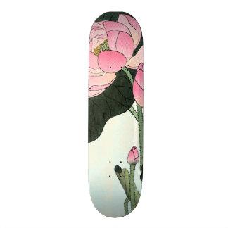 Vintage Japanese Fine Art | Lotus Flower Skateboard Deck