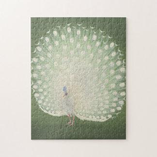 Vintage Japanese Fine Art   Peacock Jigsaw Puzzle