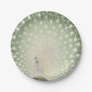 Vintage Japanese Fine Art | Peacock Paper Plate