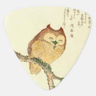 Vintage Japanese Fine Art Print   Owl on a Branch Plectrum