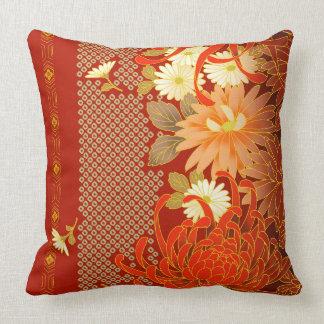 Vintage Japanese Floral Design Cushion