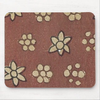 Vintage Japanese Floral Fabric 143 Mouse Pad