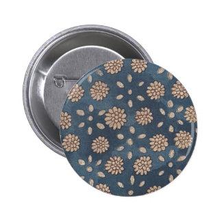 Vintage Japanese Floral Fabric 147 6 Cm Round Badge