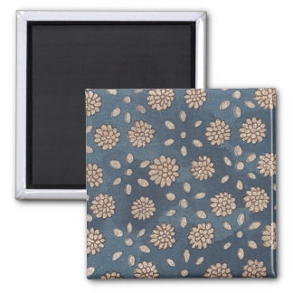 Vintage Japanese Floral Fabric 147 Square Magnet
