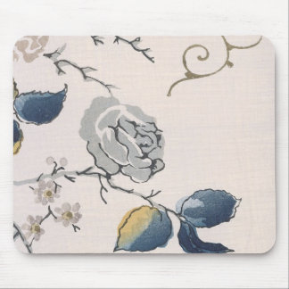 Vintage Japanese Floral Fabric Art 153 Mouse Pad