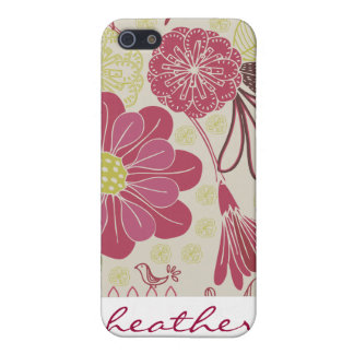 Vintage Japanese Flower Print Patter Case For iPhone 5/5S
