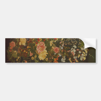 Vintage Japanese Flowers and Insects Bumper Stickers