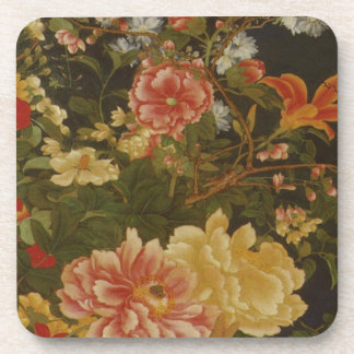 Vintage Japanese Flowers and Insects Coaster