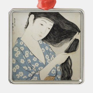 Vintage Japanese Geisha Girl Art Christmas Ornament