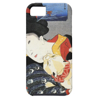 Vintage Japanese Geisha Girl Art iPhone 5 Cases