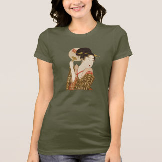 Vintage Japanese Geisha Girl with Fan T-Shirt
