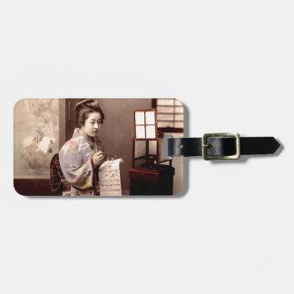 Vintage Japanese Geisha - Letter Writer Luggage Tag