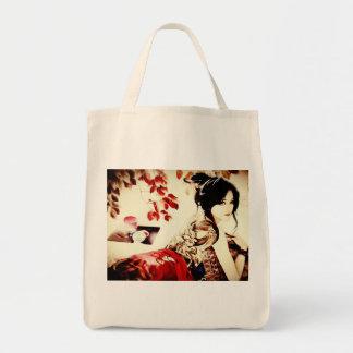 Vintage Japanese Girl Tote Bag
