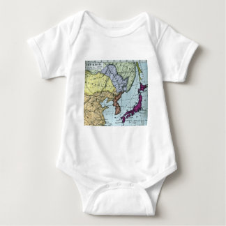Vintage Japanese Hand Tinted Map 日本 Baby Bodysuit