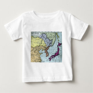 Vintage Japanese Hand Tinted Map 日本 Baby T-Shirt