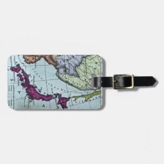 Vintage Japanese Hand Tinted Map 日本 Luggage Tag