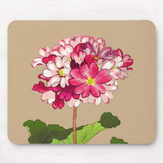 Vintage Japanese Hydrangea. Pink and Green Mouse Mat