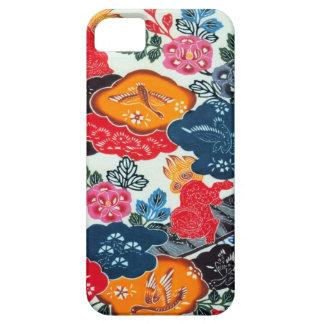 Vintage Japanese Kimono Textile (Bingata) iPhone 5 Cases