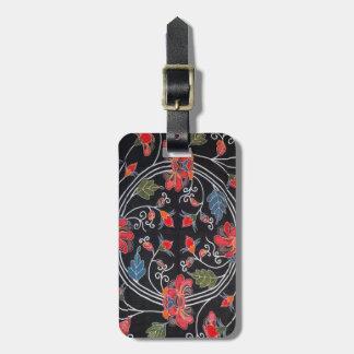 Vintage Japanese Kimono Textile (Bingata) Luggage Tag