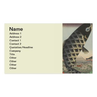 Vintage Japanese Koi Festival Flags Pack Of Standard Business Cards