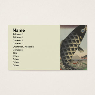 Vintage Japanese Koi Festival Flags Business Card