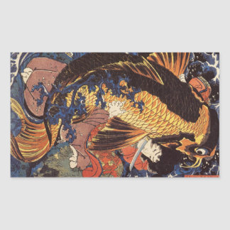 Vintage Japanese Koi Stickers
