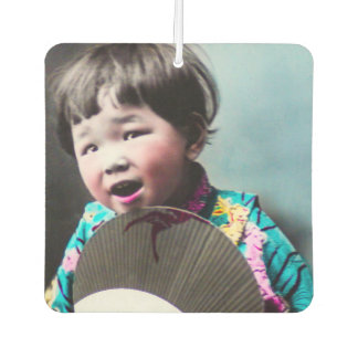 Vintage Japanese Little Girl and Paper Fan Japan