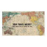 Vintage Japanese Map of the World Pack Of Standard Business Cards