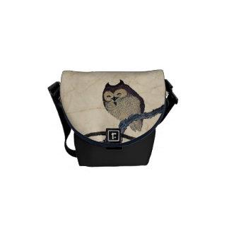 Vintage Japanese Owls Custom Messenger Bags