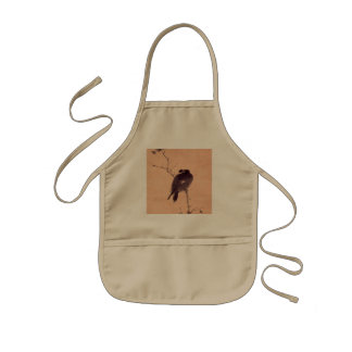 Vintage Japanese Painting of A Bird Kids Apron