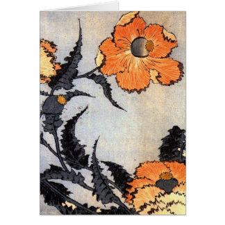 Vintage Japanese Poppies Card