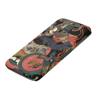 Vintage Japanese Red and Green Dragon Galaxy S5 Case