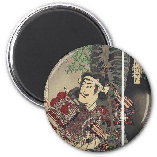 Vintage Japanese samurai 6 Cm Round Magnet
