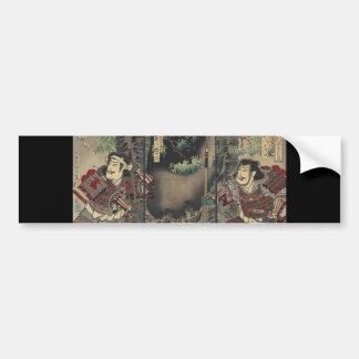 Vintage Japanese samurai Bumper Sticker