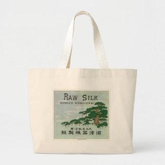 Vintage Japanese Silk Trade Card Jumbo Tote Bag