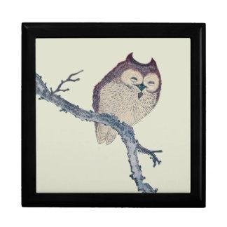 Vintage Japanese Sleeping Owl Gift Box