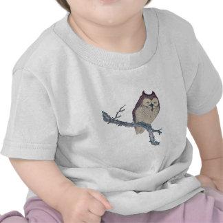 Vintage Japanese Sleeping Owl Tee Shirt