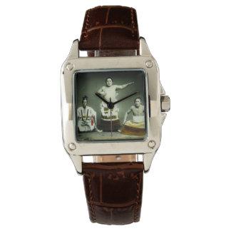 Vintage Japanese Sumo Wrestlers Old Japan Wrist Watch