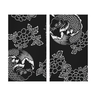 Vintage Japanese Tattoo Koi(Carp) Canvas Print