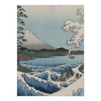 Vintage Japanese The Sea of Satta Card