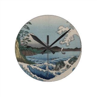 Vintage Japanese The Sea of Satta Round Clock