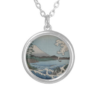 Vintage Japanese The Sea of Satta Silver Plated Necklace
